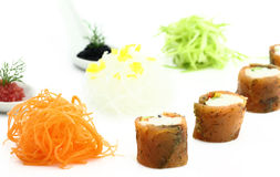 Salmon sushi and caviar Royalty Free Stock Photos