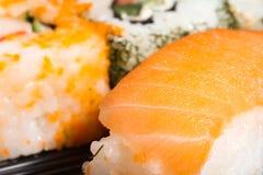 Salmon Sushi Closeup Stock Image