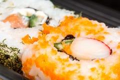 Salmon Sushi closeup Stock Photo