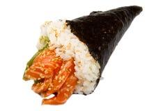 Salmon sushi cone Royalty Free Stock Photos