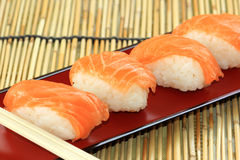 Salmon sushi Royalty Free Stock Image