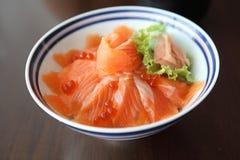 Salmon sushi don Royalty Free Stock Photo