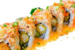 Salmon sushi maki roll Stock Photos