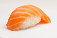 Salmon sushi nigiri. On grey background Stock Photos