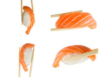 Salmon sushi nigiri isolate on white background Royalty Free Stock Photography