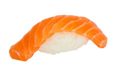Salmon sushi nigiri isolate on white background Stock Photography
