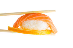 Salmon sushi nigiri isolate on white background Royalty Free Stock Photos