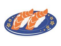 Salmon Sushi Plate Image libre de droits