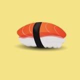 Salmon sushi. Salmon and rice sushi the Japanese food Royalty Free Stock Photography