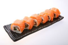 Salmon Sushi Roll Images stock