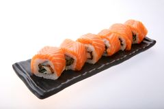 Salmon Sushi Roll Photos libres de droits