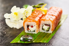 Salmon Sushi Roll Stock Photos