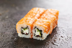 Salmon Sushi Roll Royalty Free Stock Images