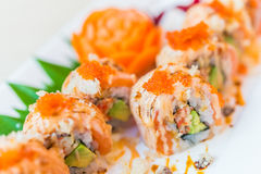 Salmon sushi roll Stock Photography