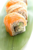 Salmon sushi roll Royalty Free Stock Photos