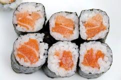 Salmon Sushi Roll Royalty Free Stock Photo