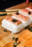 Salmon Sushi. Stock Photos