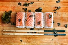 Salmon Sushi. Royalty Free Stock Photography