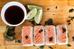 Salmon Sushi. Royalty Free Stock Image