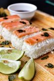 Salmon Sushi. Royalty Free Stock Photos