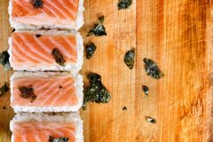 Salmon Sushi. Royalty Free Stock Photo
