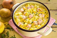 Salmon sweet corn chowder Stock Image