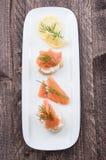 Salmon Tapas Stock Photo