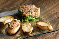 Salmon tartar Royalty Free Stock Photo
