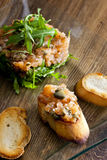 Salmon tartar Royalty Free Stock Photo