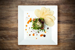 Salmon tartar Stock Photography