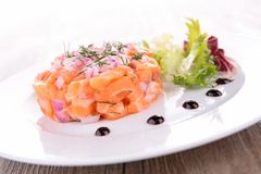 Salmon tartar Royalty Free Stock Photography
