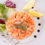 Salmon tartar Royalty Free Stock Images