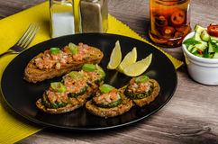 Salmon tartar Stock Photos