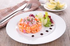 Salmon tartar Stock Photography