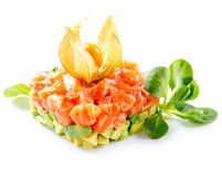 Salmon Tartar over White Royalty Free Stock Photo
