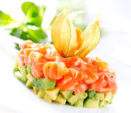 Salmon Tartar over White Royalty Free Stock Photography