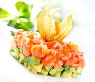 Salmon Tartar over White Royalty Free Stock Photography