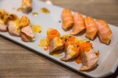 Salmon Tartar sushi royalty free stock photography