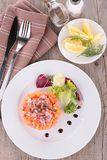 Salmon tartar Stock Photo