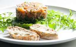 Salmon tartare Royalty Free Stock Image