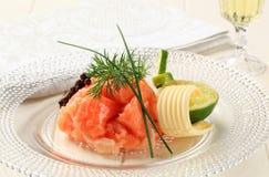 Salmon tartare Stock Photography