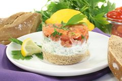 Salmon tartare Stock Image