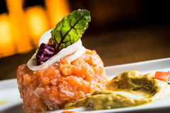 Free Salmon Tartare Royalty Free Stock Photography - 41929427