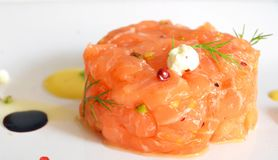 Salmon tartare Photo stock