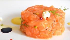 Salmon tartare Στοκ Εικόνες
