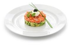 Salmon tartare with avocado Royalty Free Stock Image