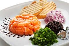 Salmon Tartare Stock Photo