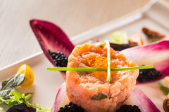 Salmon tartare Royalty Free Stock Photo
