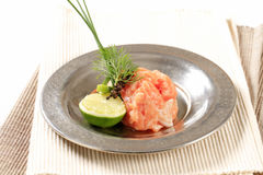 Salmon tartare Royalty Free Stock Photos