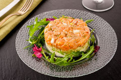 Salmon tartare Royalty Free Stock Photography